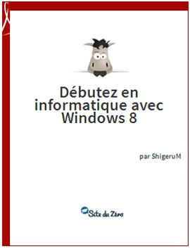 Ebook gratuit Débutez en informatique avec windows 8