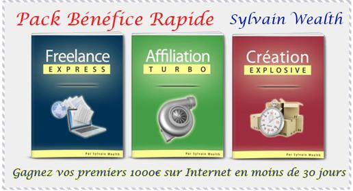 Ebook livre numérique Pack bénéfice rapide de Sylvain Wealth